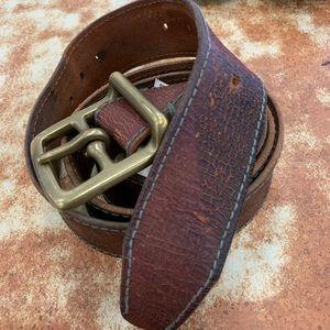 Lucky Brand Distressed Leather Belt Waist  40